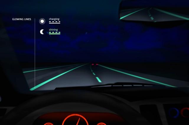 Glow in the dark roads make debut in Netherlands