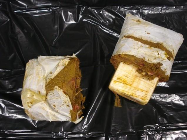 Smuggling drugs in meat is a baaaad idea