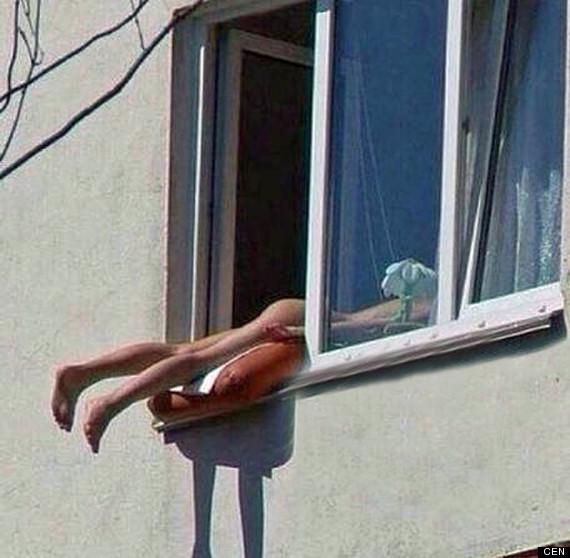 Naked Sunbather Causes Multi-Car Crash